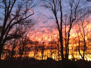 The sky aflame