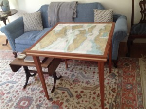 Table made by my dad - chart top by yours truly